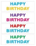 Happy Birthday Bookmarks
