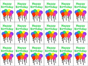Happy Birthday Brag Tags