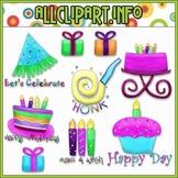 $1.00 BARGAIN BIN - Happy Birthday Brights Clip Art