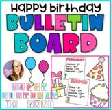Happy Birthday Bulletin Board - EDITABLE