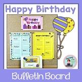 Birthday Bulletin Board No Prep Display