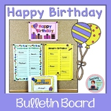 Birthday Bulletin Board No Prep Display