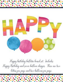 Happy Birthday Bulletin Board Set