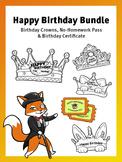 Happy Birthday Bundle - Crowns, Homework Pass & Birthday C