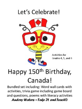 Happy  Birthday Canada 150 Years - Bundled Activity Pack