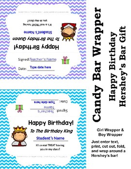 Happy Birthday Candy Bar Wrappers {FREE}