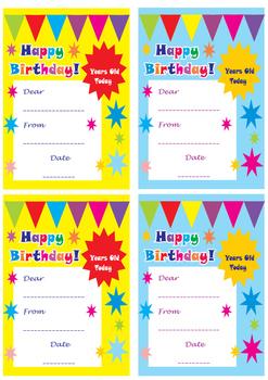 Happy Birthday Card, printable birthday card, free birthday card