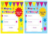 Happy Birthday Card, printable birthday card, free birthday card