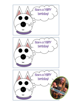 Happy Birthday Cards Dog Theme Have A YAPPY