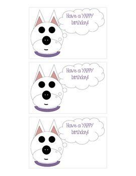 Happy Birthday Cards: Dog Theme (Have a YAPPY Birthday)!