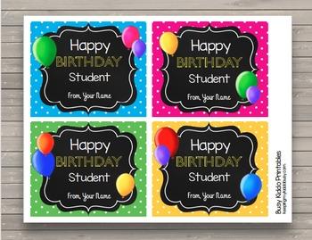 Happy Birthday Cards EDITABLE Student Birthday - Bulletin Board