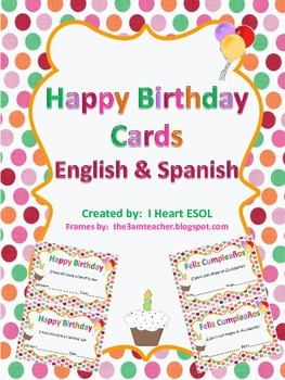 happy birthday cards english and spanish