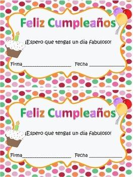 Happy Birthday Cards {English and Spanish}
