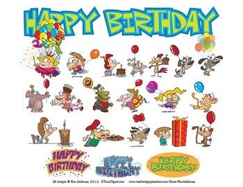 Happy Birthday Cartoon Clipart