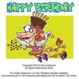 Happy Birthday Cartoon Clipart for all grades