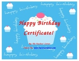 Happy Birthday Certificate!