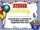 Happy Birthday Certificates - Cupcakes and Balloons