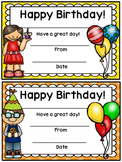 Happy Birthday Certificate- Polka Dot Theme