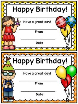Happy Birthday Certificate- Polka Dot Theme