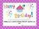 Polka-Dot Happy Birthday Certificates