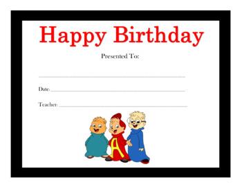 Happy Birthday Certificates Part I (180 Certificates)