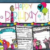 Happy Birthday Certificates Award Handout Freebie