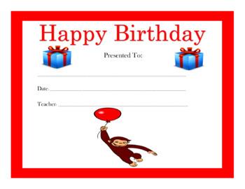 Happy Birthday Certificates Part II (70 Certificates)