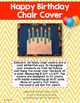 Happy Birthday Chair Cover