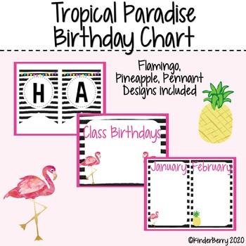 Happy Birthday Chart  Bold Paradise