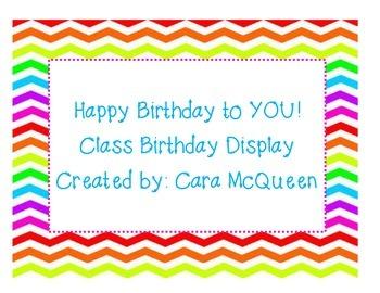 Happy Birthday Class Bulletin Board Set