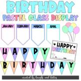 PASTEL Student B-day DECOR   Happy Birthday Classroom Disp