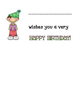 Happy Birthday Classroom Gift book
