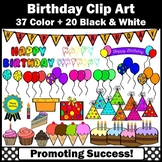 Birthday Clipart Balloons Cake Party Hats Cupcake Presents SPS
