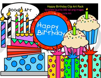 Happy Birthday Clipart Pack