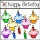 Happy Birthday Clipart Set