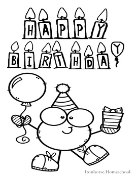 Happy Birthday Coloring Pages Worksheets Teaching Resources Tpt