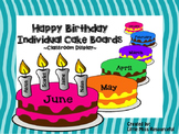 Happy Birthday Colourful Cake Boards- beginning of the year decoration/display