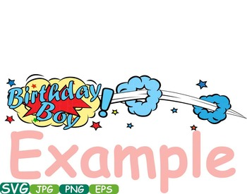 Happy Birthday Comic Book Superheroes Pop Text Props Speech Bubble Party -276S