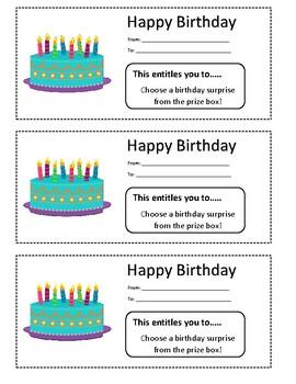 Happy Birthday Coupons
