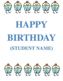 Happy Birthday Cover Sheet