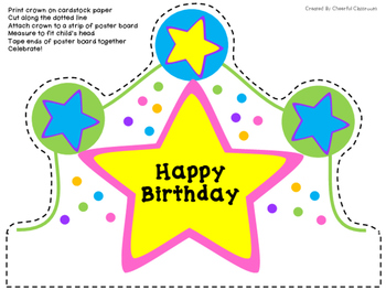 photo about Birthday Crown Printable known as Satisfied Birthday Crown Worksheets Schooling Materials TpT