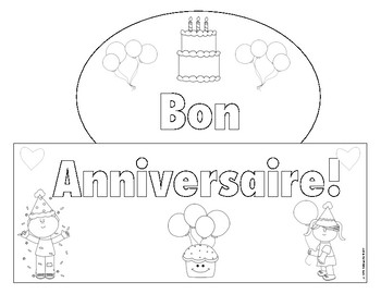 Happy Birthday Crown in French!