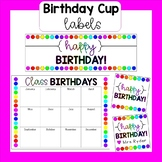Happy Birthday Cup Labels