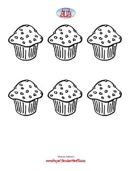Happy Birthday Cupcake Graph
