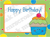 Labels: Happy Birthday Cupcakes, 10 per page