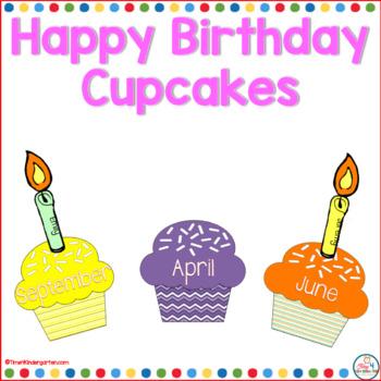 Happy Birthday Cupcakes- an editable classroom display