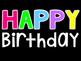 Happy Birthday Display