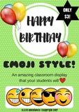 Happy Birthday Display - Emoji Style!