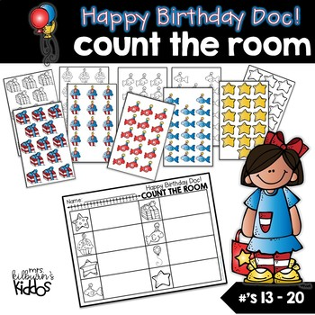 Happy Birthday Doc!  Count the Room for Numbers 13-20