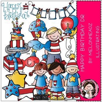 Melonheadz: Happy Birthday Doc clip art - COMBO PACK